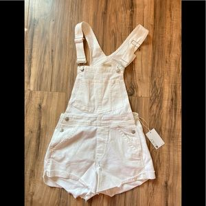 New Joe's Jeans White Nicky Overalls Small